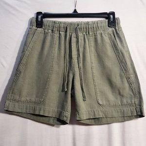 James Perse Olive/Khaki green cotton shorts